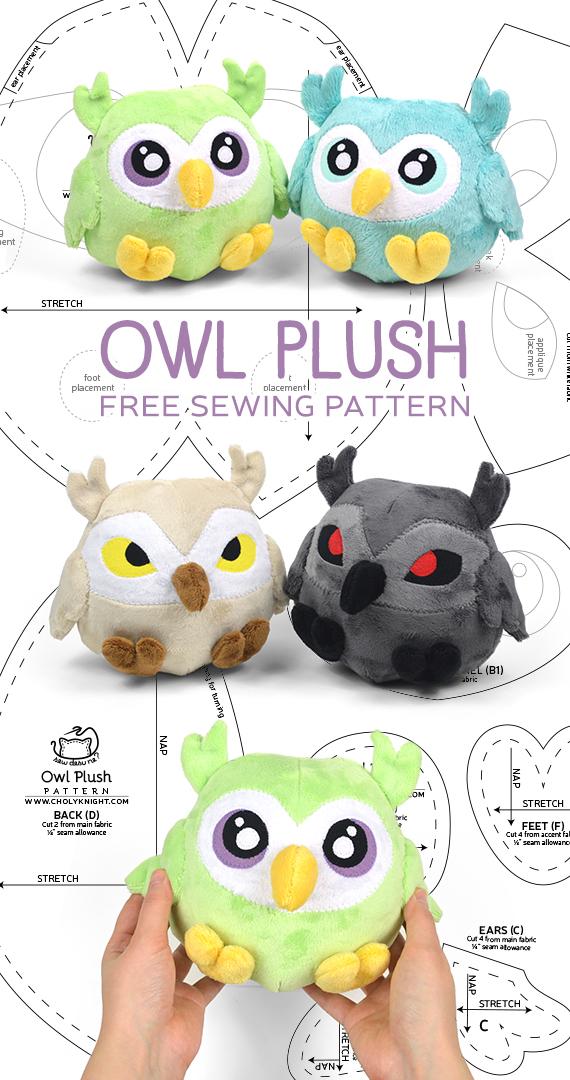f81cff2fa4f1d Owl Plush Sewing Pattern by SewDesuNe on DeviantArt
