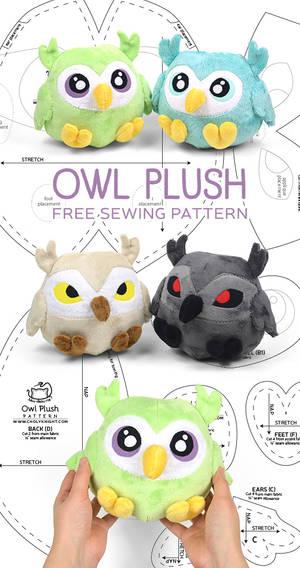 Owl Plush Sewing Pattern