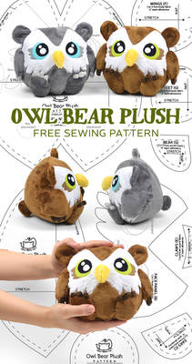Owl Bear Plush Sewing Pattern