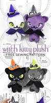 Witch Kitty Plush Sewing Pattern