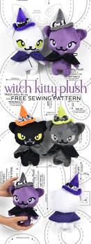 Witch Kitty Plush Sewing Pattern