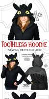 Night Fury Hoodie Hack Sewing Pattern