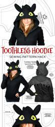 Night Fury Hoodie Hack Sewing Pattern by SewDesuNe