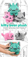 Kitty Bean Plush Sewing Pattern