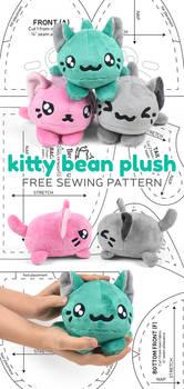 Kitty Bean Plush Sewing Pattern