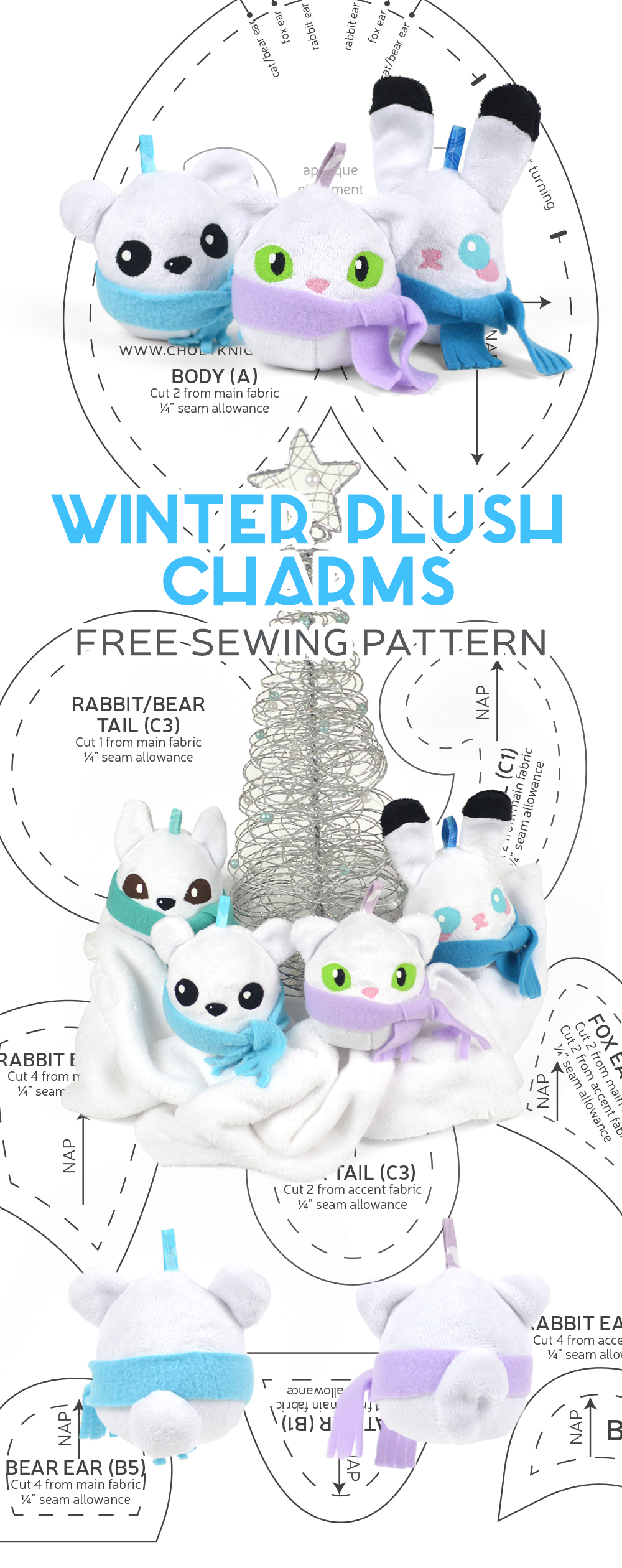 1fee98053a75a Winter Plush Charms Sewing Pattern by SewDesuNe on DeviantArt