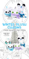 Winter Plush Charms Sewing Pattern