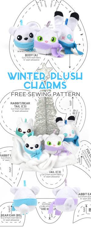 Winter Plush Charms Sewing Pattern
