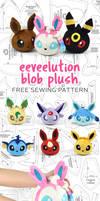 Eevee Evolution Blob Plush Sewing Pattern