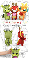 Love Dragon Plush Sewing Pattern