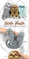Sloth Plush Sewing Pattern