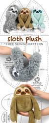 Sloth Plush Sewing Pattern by SewDesuNe