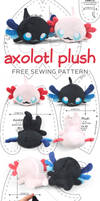 Axolotl Plush Sewing Pattern