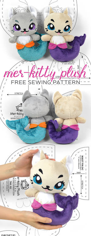 Mer-kitty Plush Sewing Pattern