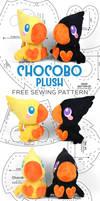 Chocobo Plush Sewing Pattern