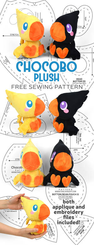 Chocobo Plush Sewing Pattern