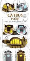 Catbus Plush Sewing Pattern by SewDesuNe