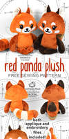 Red Panda Plush Sewing Pattern