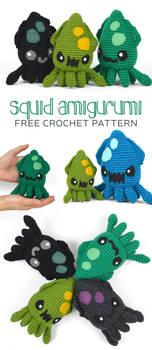 Squid Amigurumi Pattern