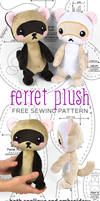 Ferret Plush Sewing Pattern