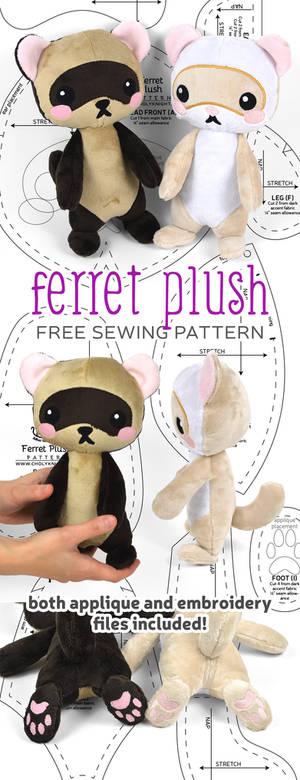 Ferret Plush Sewing Pattern
