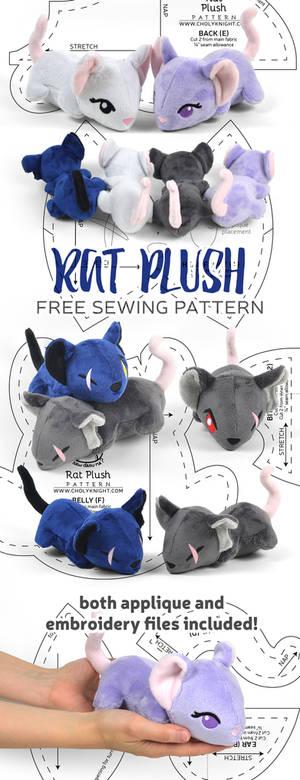 Rat Plush Sewing Pattern