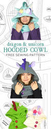 Hooded Cowl Sewing Pattern by SewDesuNe