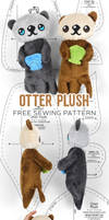 Otter Plush Sewing Pattern