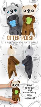 Otter Plush Sewing Pattern