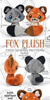 Fox Plush Sewing Pattern