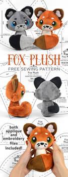Fox Plush Sewing Pattern