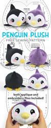 Penguin Plush Sewing Pattern by SewDesuNe
