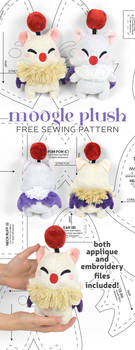 Moogle Plush Sewing Pattern by SewDesuNe
