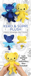 Kero and Suppi Plush Sewing Pattern by SewDesuNe