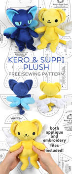 Kero and Suppi Plush Sewing Pattern