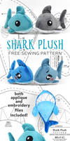 Shark Plush Sewing Pattern