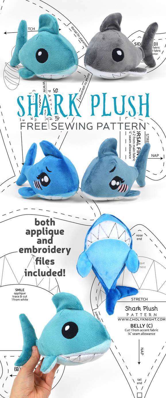 Shark Plush Sewing Pattern