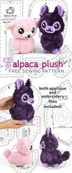 Alpaca Plush Sewing Pattern by SewDesuNe