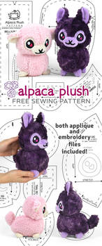 Alpaca Plush Sewing Pattern