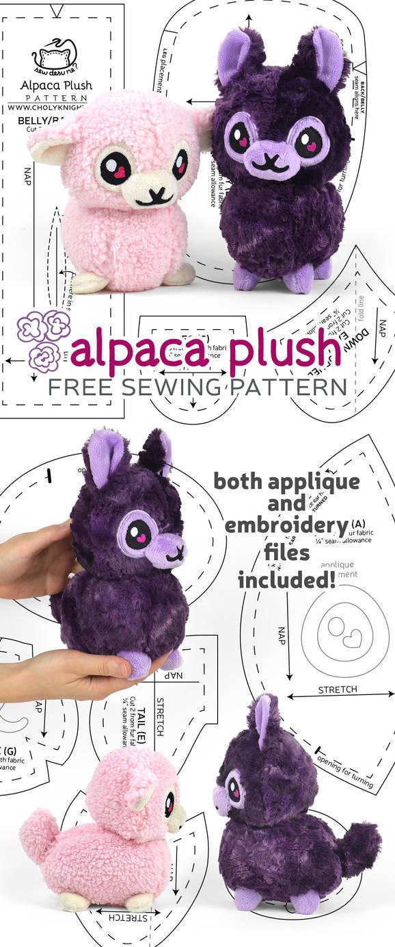 Alpaca Plush Sewing Pattern