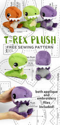 T-Rex Plush Sewing Pattern