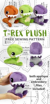 T-Rex Plush Sewing Pattern