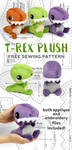 T-Rex Plush Sewing Pattern by SewDesuNe