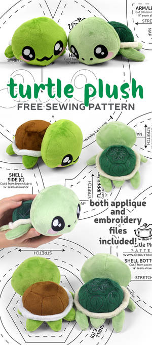 Turtle Plush Sewing Pattern by SewDesuNe