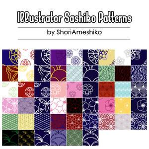 Illustrator Sashiko Patterns