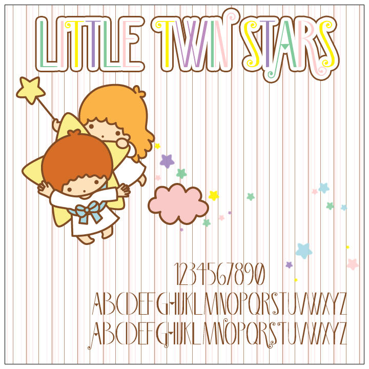 Little Twin Stars Font by SewDesuNe