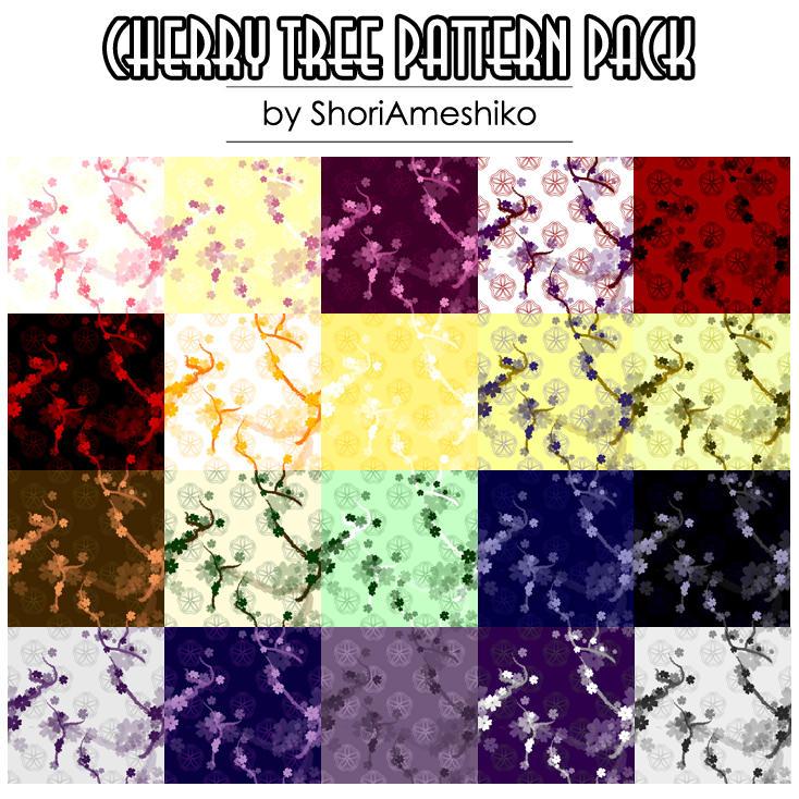 Cherry Tree Pattern Pack by SewDesuNe