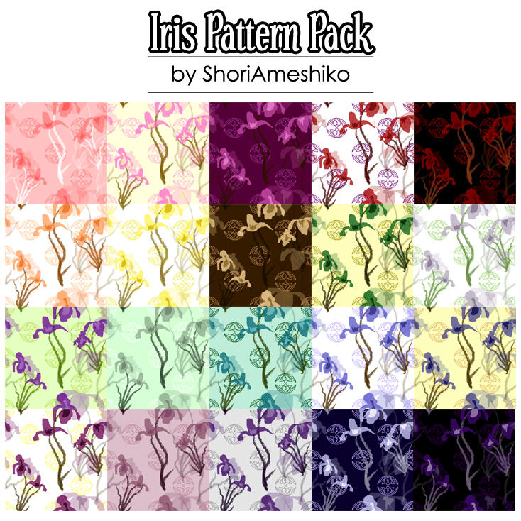 Iris Pattern Pack by ShoriAmeshiko
