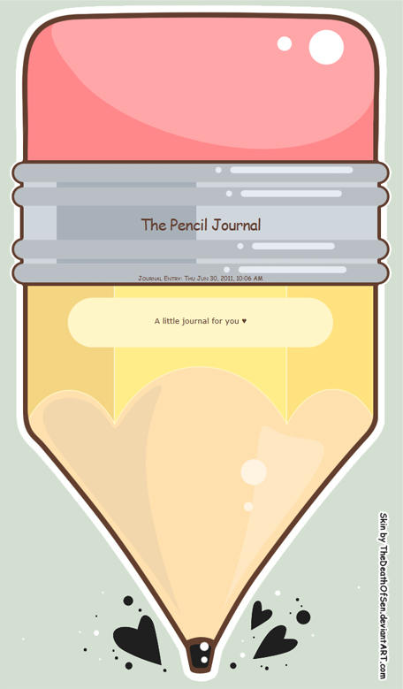 Pencil Journal by TheDeathOfSen