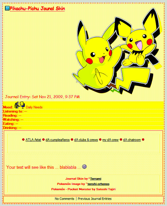 Pikachu-Pichu CSS Journal